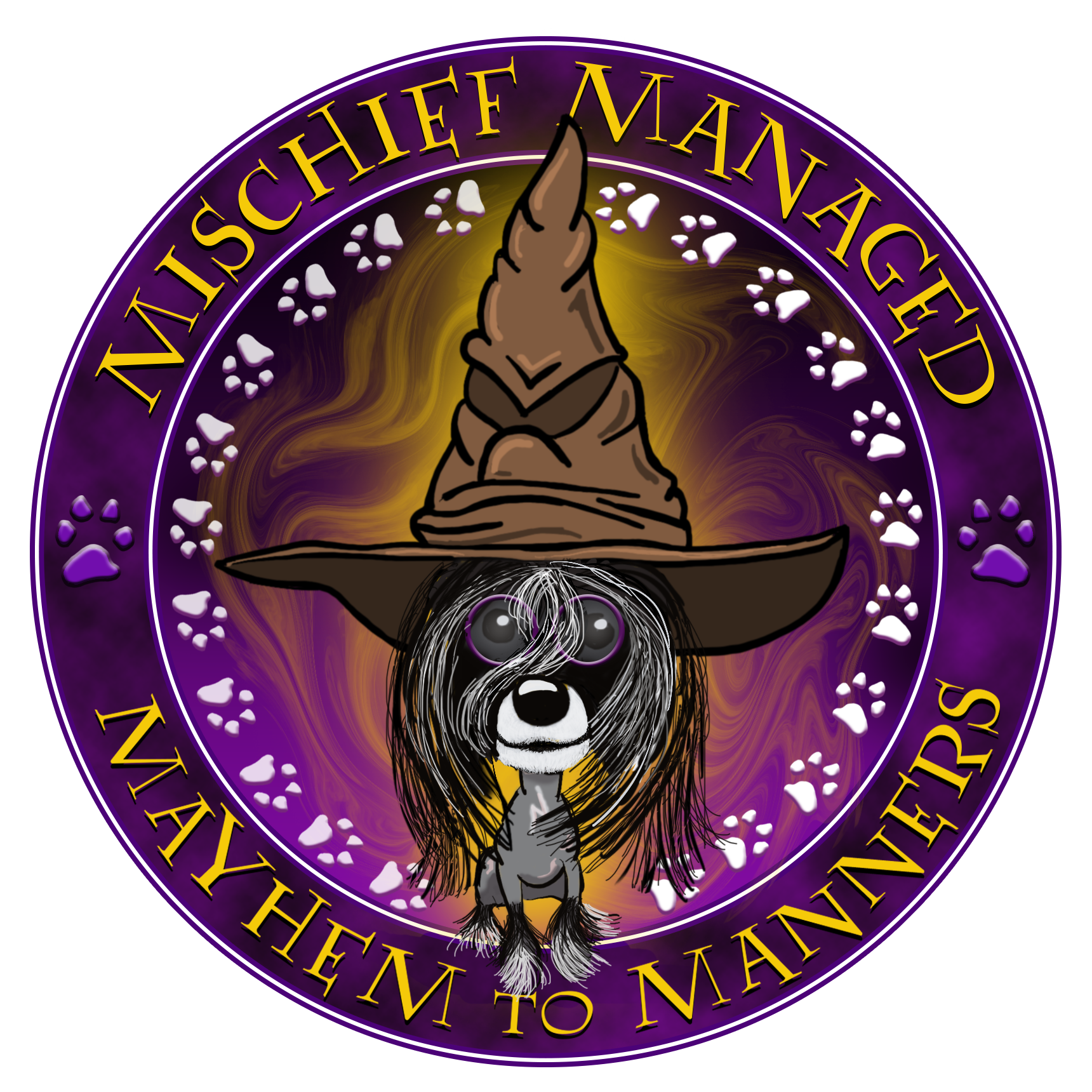 Mischief Managed Mayhem to Manners Logo PNG